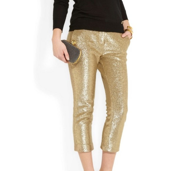 94% off Tibi Pants - Tibi New York gold Capri pants 6 from ...