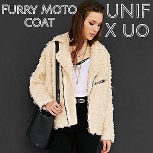 UNIF X UO - FURRY MOTO COAT