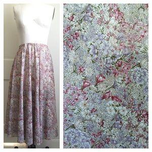 ️Vintage Boho Floral Print Midi Skirt