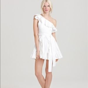 ✨Host Pick✨ Rachel Zoe White Ruffle Dress