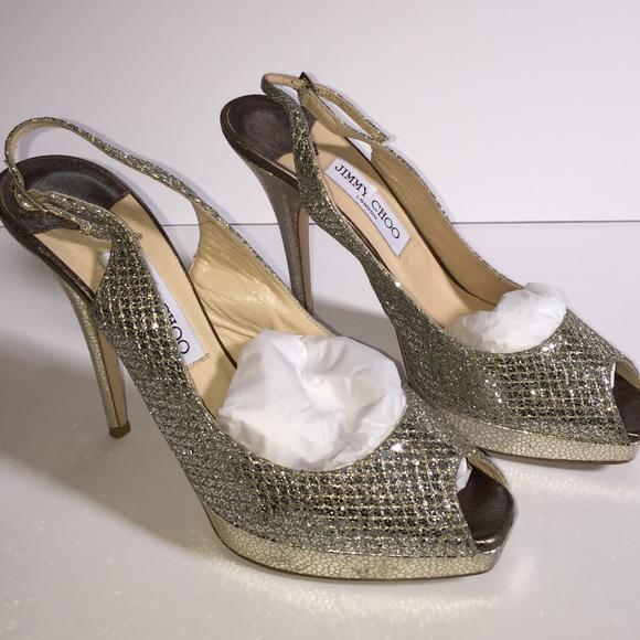 229e6af483a5 Jimmy Choo Shoes - Jimmy Choo Clue Platform Slingback Pumps Shoes 8.5