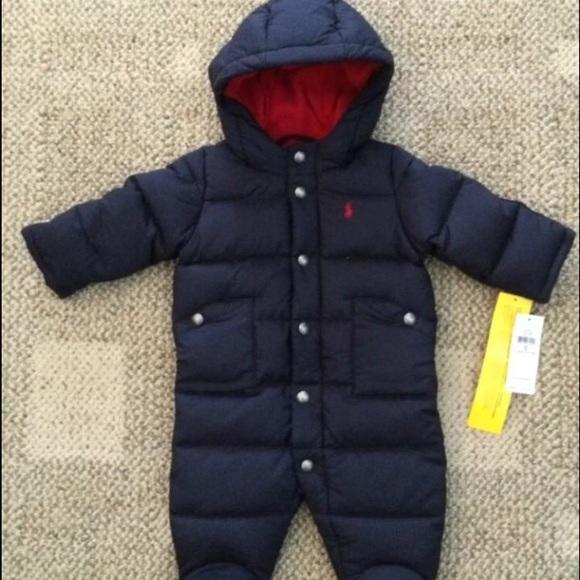 Ralph Lauren Jackets Amp Coats Baby Boy Navy Blue Snowsuit