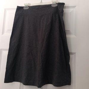 Gray A-line knit skirt
