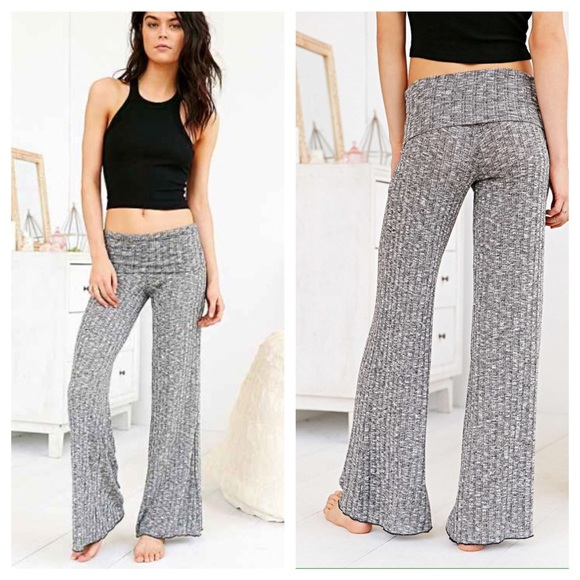 53% off Urban Outfitters Pants - Out from Under Ribbed Wide-leg ...