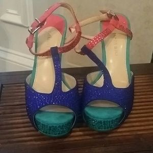 Sparkling multi-colored gianni bini heels