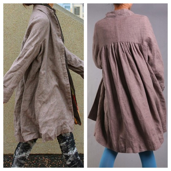 Free People Jackets Amp Coats Genuine Linen Artist Smock