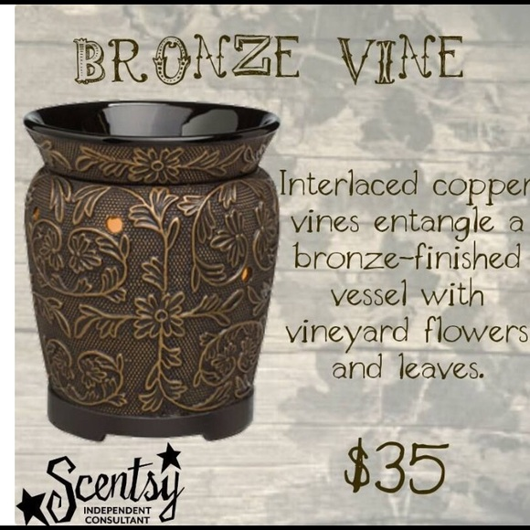 Scentsy Other Nwt Bronze Vine Warmer Poshmark