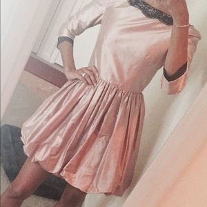 Dresses & Skirts - Cocktail,Silk bubble dress in light pink