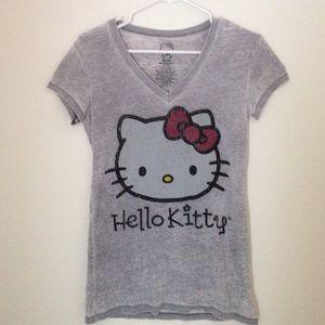 Sanrio Tops - Sanrio- Hello Kitty grey slub t-shirt Size Medium