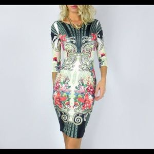 Brand new dress bodycon floral midi