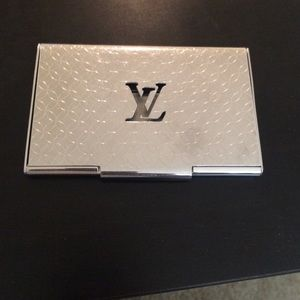 Louis vuitton accessories business card holder poshmark louis vuitton accessories louis vuitton business card holder colourmoves