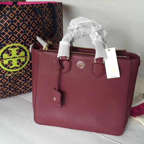 9f2ad535030 Tory Burch Bags | New Robinson Pebbled Square Tote Bag | Poshmark