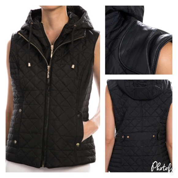 pink berry boutique Jackets & Blazers - Quilted zipper vest