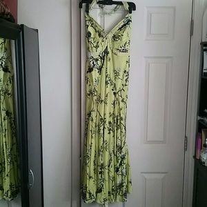 Just Cavalli dress floral long elegant halter top