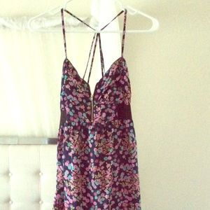 Billabong floral zipper strappy back dress