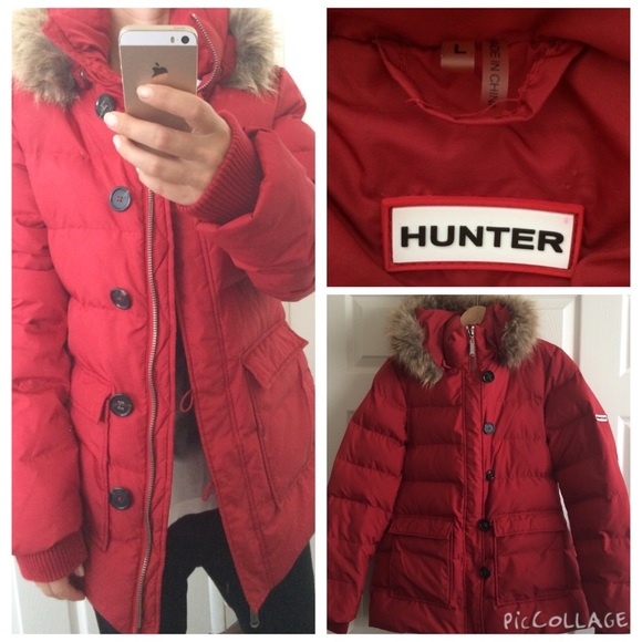 cb1821c1df878 Hunter Jackets & Blazers - Hunter Real Fur Down Feather Jacket💞Sunday SALE