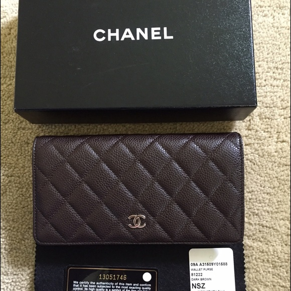 CHANEL Handbags - Auth 1daysale🎉Chanel caviar brown wallet preloved b66498aa770a