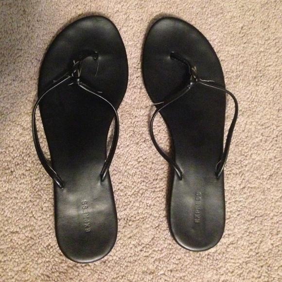 1e61691852e Express Shoes - Black Express flip flops