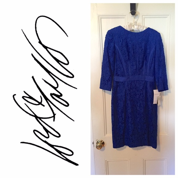 Taylor By Lord And Taylor Blue Lace Dress Sz 6 Nwt