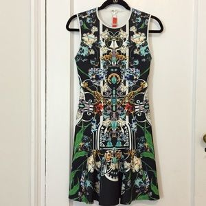 [nwot] Clover Canyon Gold Panther Dress