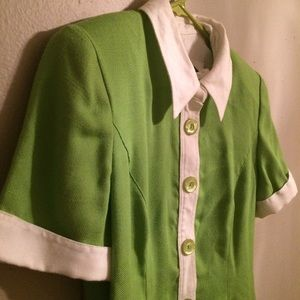 Vintage 60's lime green dress