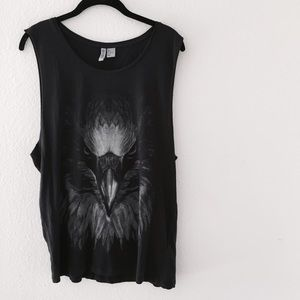 H&M Tops - H&M oversized muscle graphic tank