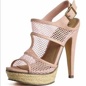 Sexy mesh heels