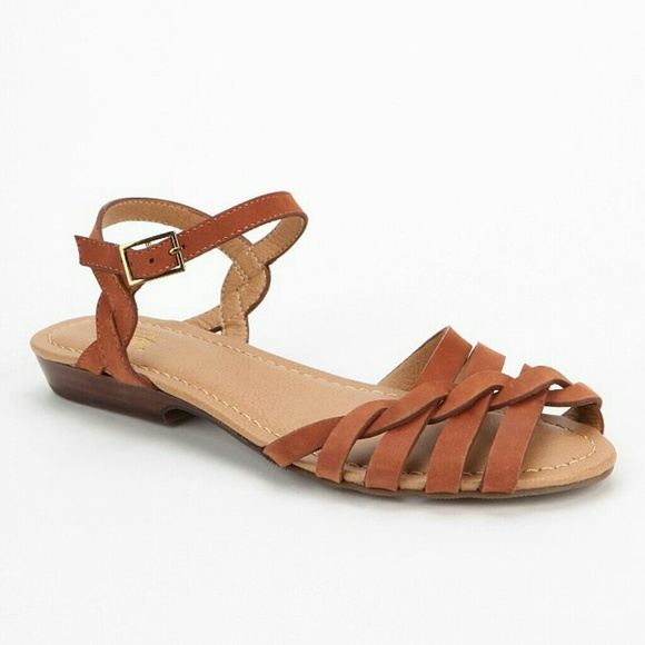 b650a6b39 Bass Clementine Tan Brown Leather Sandals 7