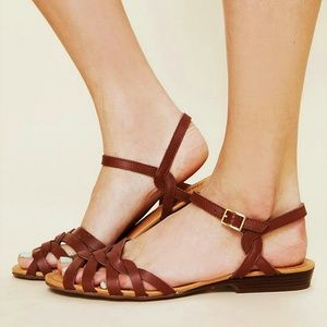 b718a1914 Bass Shoes - Bass Clementine Tan Brown Leather Sandals 7