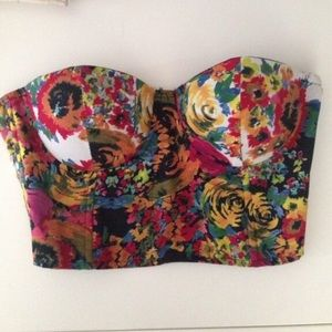 LF Tops - Lf floral bustier