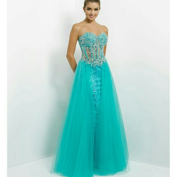 80% off blush prom Dresses & Skirts - Turquoise prom dress from ...