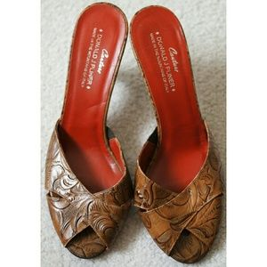 Donald J. Pliner Couture peep toe Italian sandals