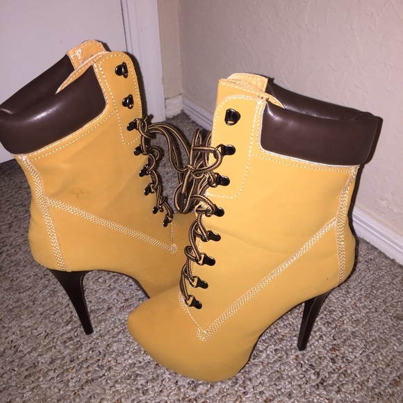 timberland inspired heel