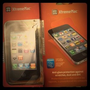 XtremeMac Accessories - iPhone 4 tuffwrap & anti-glare protection shield