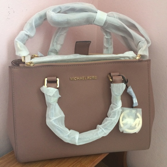 6689ff8a17 Michael kors sutton medium satchel dusty rose