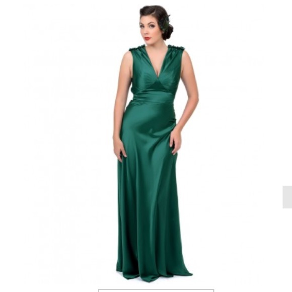 Unique prom Dresses | Vintage Emerald Green Gown Size Xs | Poshmark