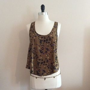 Sexy Open Back Top UO Cheetah Print NWT Brown