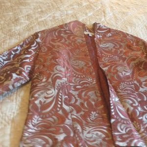 Connie Roberson Jackets Amp Coats Silk Jacket With A High