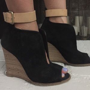 Zara wedge booties