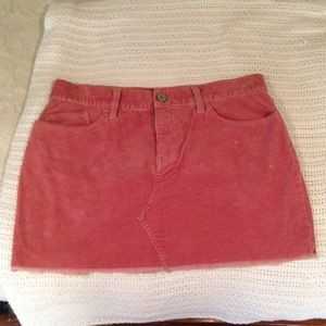 Old Navy Pink Corduroy Skirt Size 6