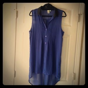 14th & Union  Tops - Navy and black hi-low chiffon tunic/dress