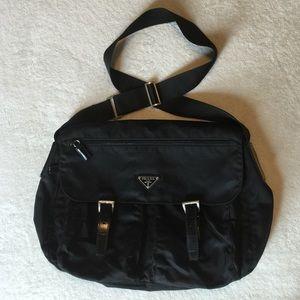 prada nylon clutch - 86% off Prada Handbags - Prada Blue Messenger Crossbody Handbag ...