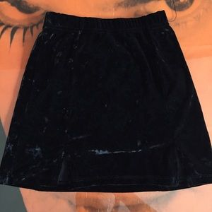 Brandy Crushed Velvet Mini