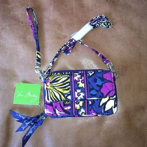 NWT ALL IN ONE CROSSBODY & WRISTLET AFRICAN VIOLET