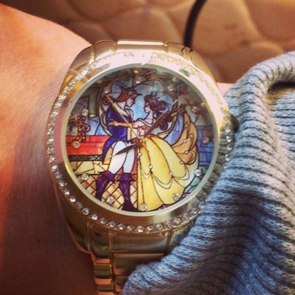 75% off Jewelry - Beauty and the beast stained glass watch ...