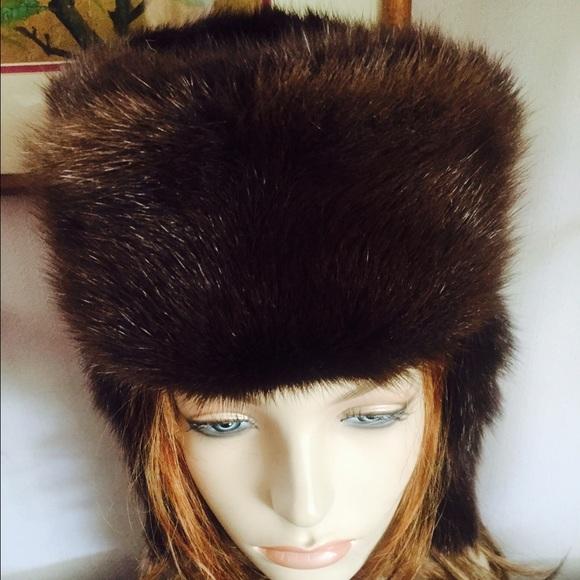 72964410cbf Vintage Gen. Mink Fur Russian Aviator Trapper Hat.  M 55f9bb81729a660e9102802e