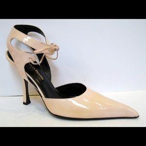Cesare Paciotti Shoes - Cesare Paciotti Beige Ankle Wrap Pump Size 39