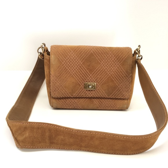 [Sold] CHANEL Suede Brown Leather Shoulder Bag