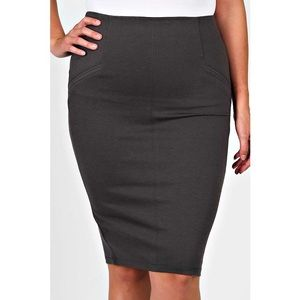 Dresses & Skirts - Plus Size Straight Line Mid Skirt