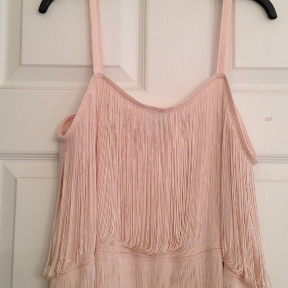 Blush Fringe Dress